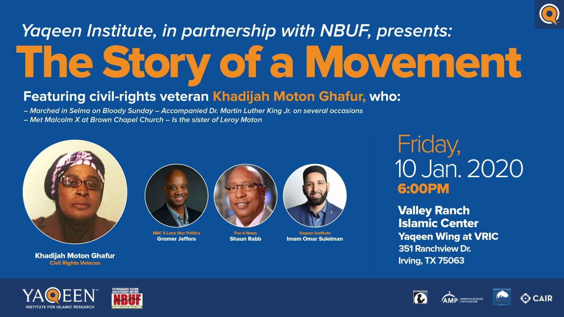 A Public Conversation with Civil Rights Veteran Khadjia Moton Ghafur