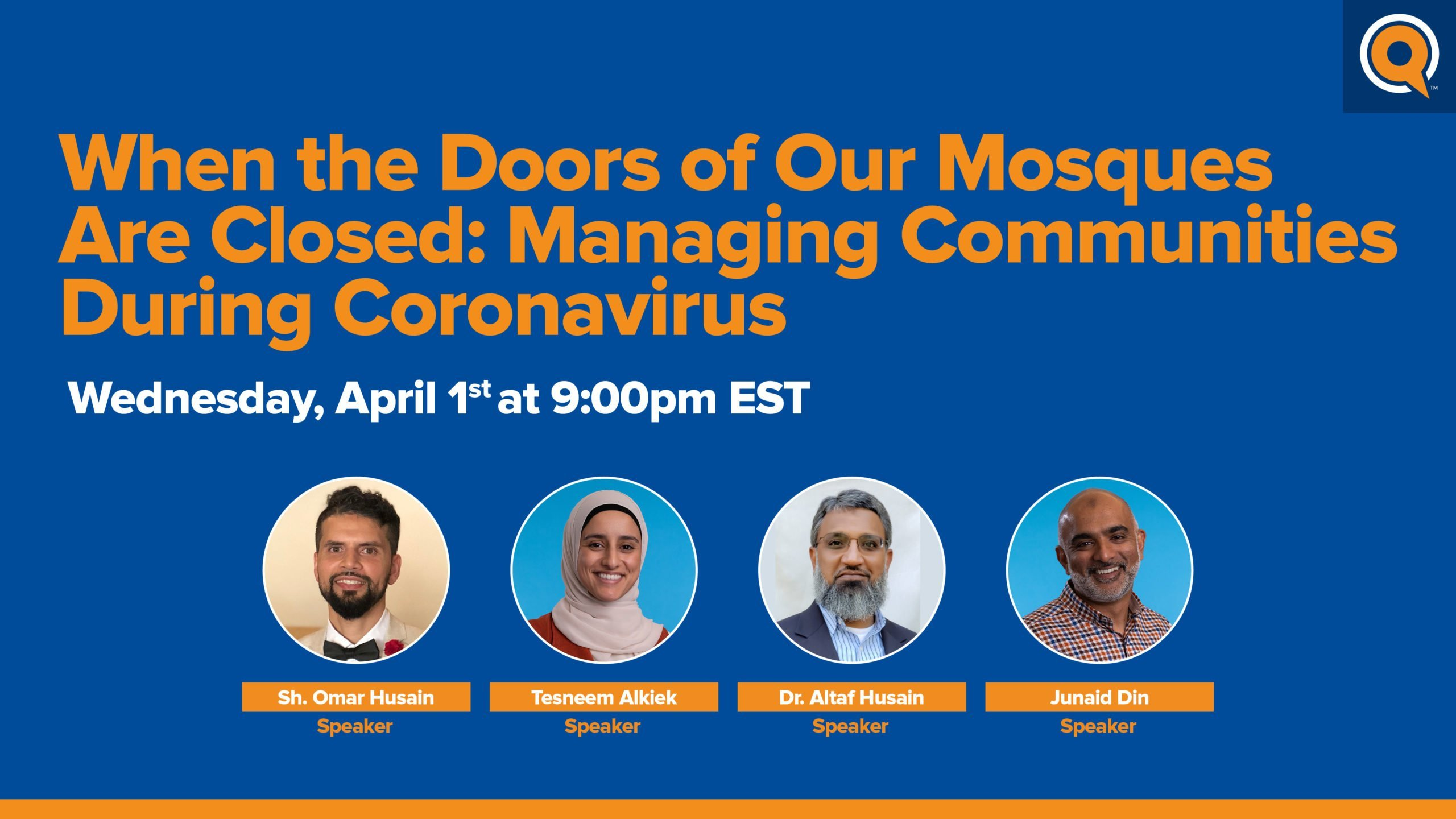 Webinar | When Our Mosques Are Closed: Managing Communities During Coronavirus