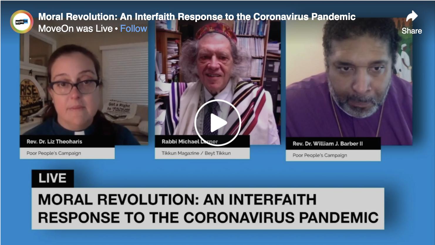 "MoveOn: ""An Interfaith Response to the Coronavirus Pandemic"""