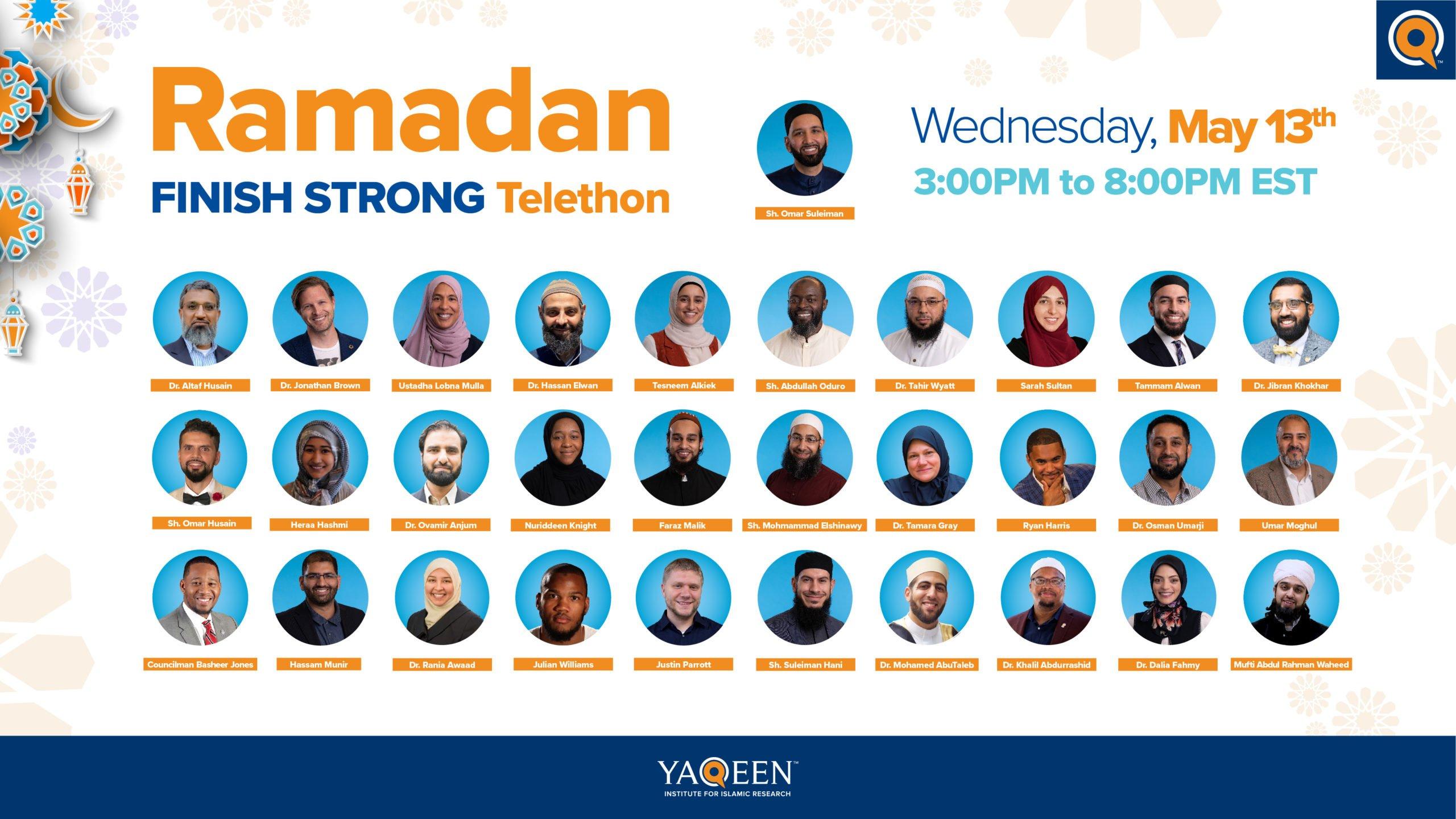 Live Now: Finish Ramadan Strong Telethon