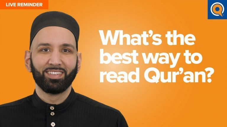 What's the best way to read Qur'an? | Live Reminder
